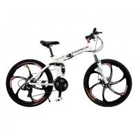 Велосипед 26 на литых дисках Порш складной белый (P)
