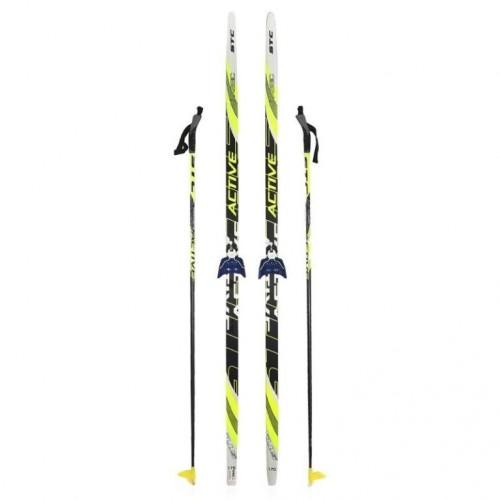 Лыжный комплект STC 75мм 205см (4)+палки+креп.