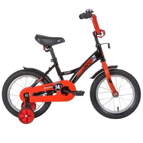 Велосипед 14 Novatrack Strike.BKR20  черна-красный нож/т
