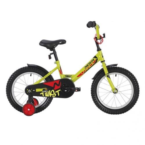 Велосипед 18 Novatrack Twist.GN20 зелёный нож/т
