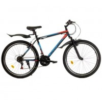 Велосипед 26  AVENGER C260 чёр/крас  18