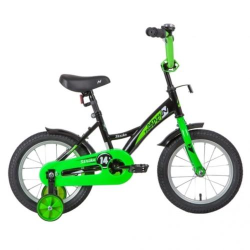 Велосипед 14 Novatrack Strike.BKG20 черный-зеленый нож/т