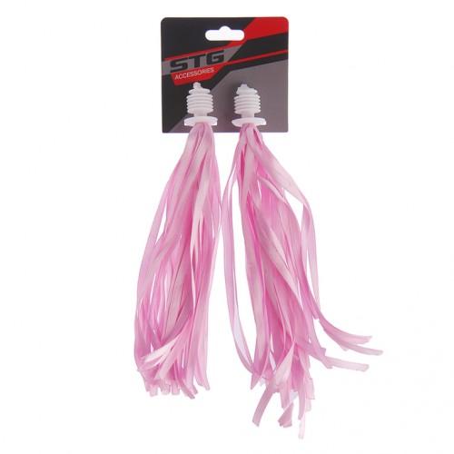 Грипсы-вставки  Х73954-5 STG. FCR-S-3203.7 розовый/белый ленты для вставки в грипс
