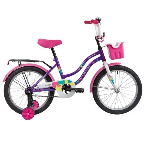 Велосипед 20 Novatrack Tetris.VL20  фиолет.нож/т