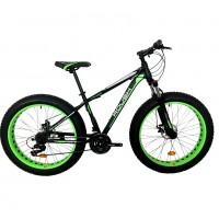 Велосипед 26 Fat bike Roush 26FMD250-1 зелёный матовый