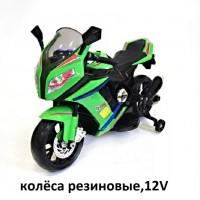 Электромотоцикл детский M111ММ зелен Колеса: каучук  99*41*65