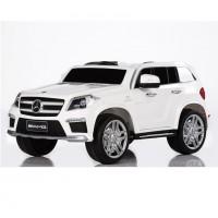 Электромобиль детский Mercedes-Benz GL63 белый р-у (12V7AH*1.2 мотора-30W) скор-ти 3-5 км/ч амортизаторы откр. двери,ремень,эл.тормоз,122*77*57см