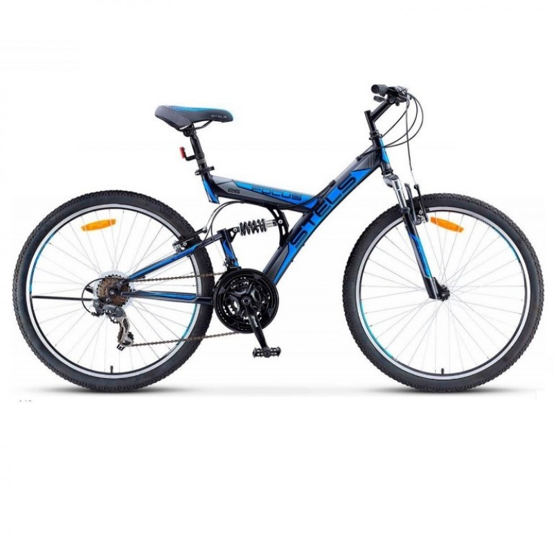 Велосипед 26  Stels Fokus V030  18ск. т.-серый/синий (2021)
