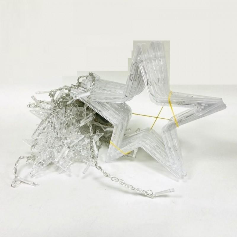 Гирлянда Звёзды 3м белая цветной свет