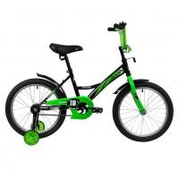 Велосипед 18 Novatrack Strike.BKG20  черный/зелёный