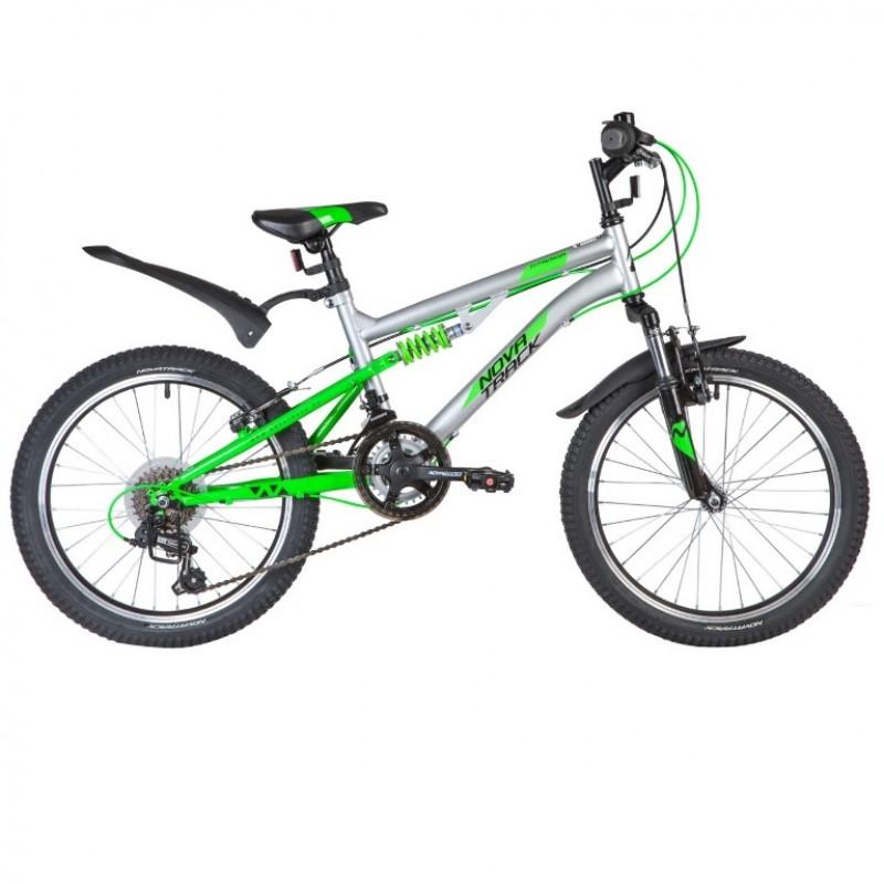 Велосипед 20 Novatrack SS12V.TITANIUM.SL20   12 ск.SHIMANO + аморт серебристый