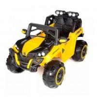 Электроквадроцикл детский 47069  (Р) с монитором mp4 полный привод желтый