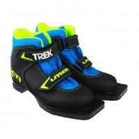 Ботинки лыжные  35р. 75мм TREK Laser1 черный (лого лайм неон)