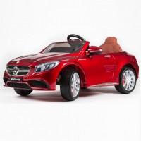 Электромобиль детский Mercedes-Benz S63 AMG 45482  (Р)  вишневый, глянцевый