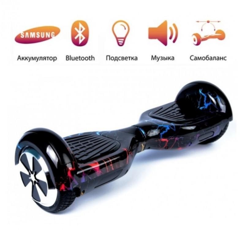 Гироскутер  6,5 Smart Balance Wheel Цветная Молния Музыка + Самобаланс Whell new