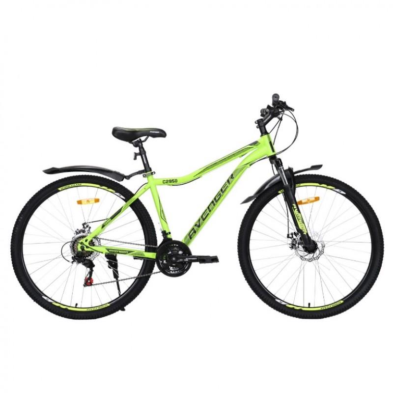 Велосипед 29 Avenger C295D-YLN/BK-17.5(21) жёлтый неон/чёрный