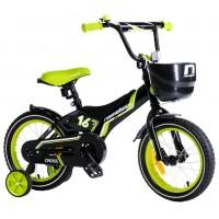 Велосипед 16 Nameless Cross, черный/зеленый