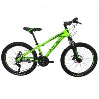 Велосипед 24 Roush 24MD200-3 зелёный матовый