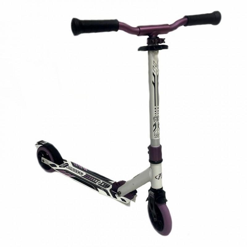 Самокат TT Jogger 145 белый-фиолетовый 2021 1/4