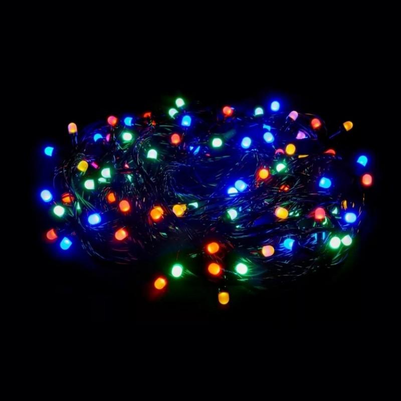 Гирлянда  160л шарик цветоной, цветной свет
