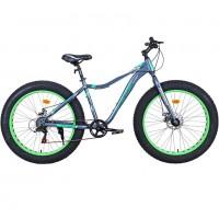 Велосипед 26 Fat bike Avenger C262D ,серый/зелёный ,17,5