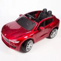 Детский электромобиль Maserati 41217 вишнёвый, кож. сал. 12в р-у откр.дв кол.рез