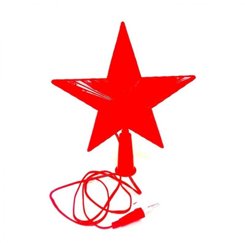 Гирлянда Звезда маленькая красная , цветной свет