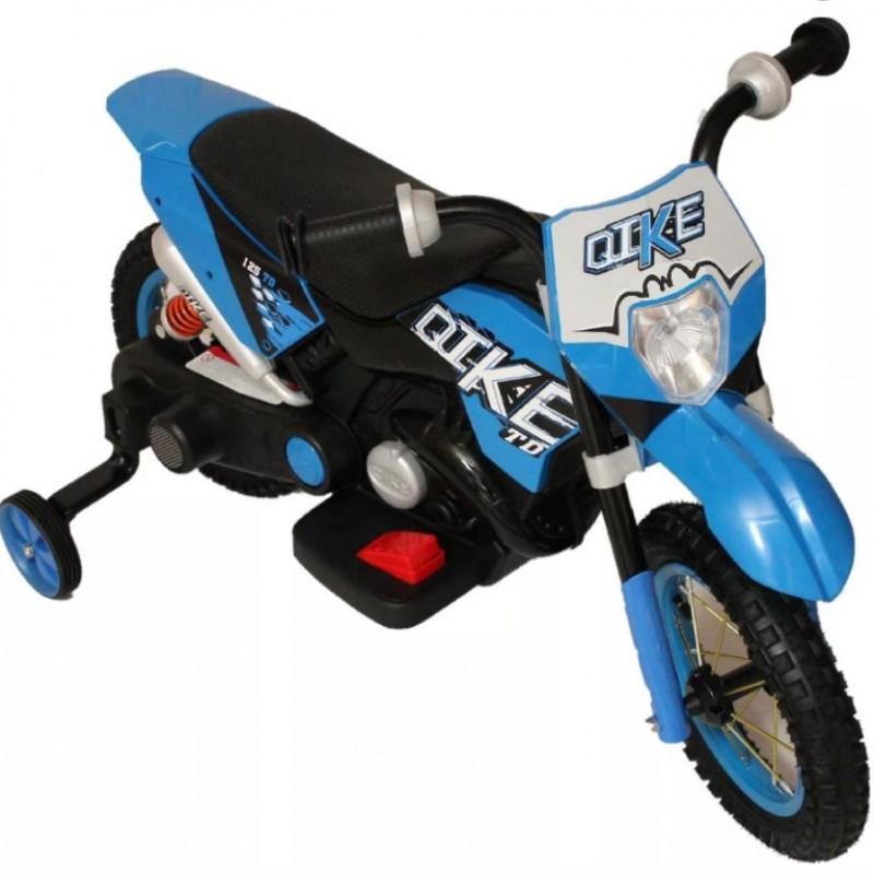 Электромотоцикл детский CROSS YM68  50489 (Р) синий
