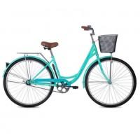 Велосипед 28 Foxx SHU.Lady VINTAGE.GN1 зел.+пер. корз
