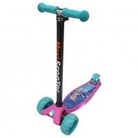 Самокат Scooter BIG Maxi Print Music TJ-701M  цвет розовый Барби 1/6