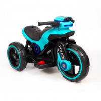Электромотоцикл детский Y- MAXI Police 45561 (Р) голубой