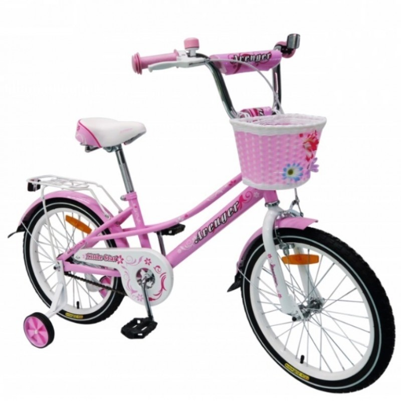 Велосипед 14  AVENGER LITTLE STAR, розовый/белый
