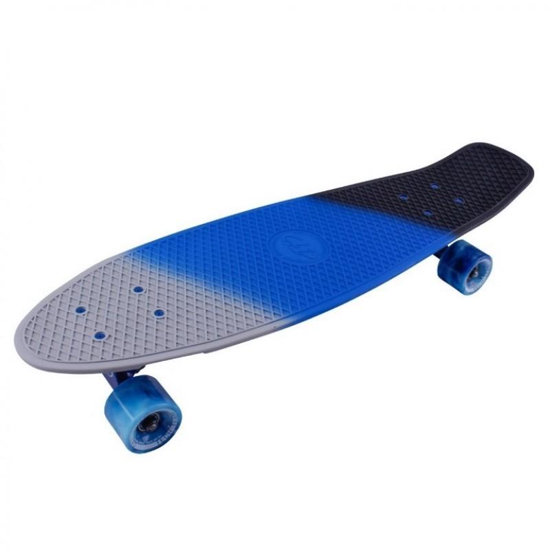 Скейтборд  ТТ Tricolor 27 1/6 TSL-402M пластик grey/blue