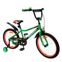 Велосипед 12  AVENGER LITTLE STAR, зелёный/чёрный