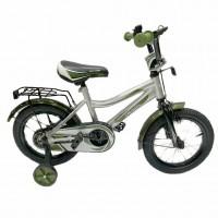 Велосипед 14 TechTeam Canyon цвет: серо-зелёный (сталь)