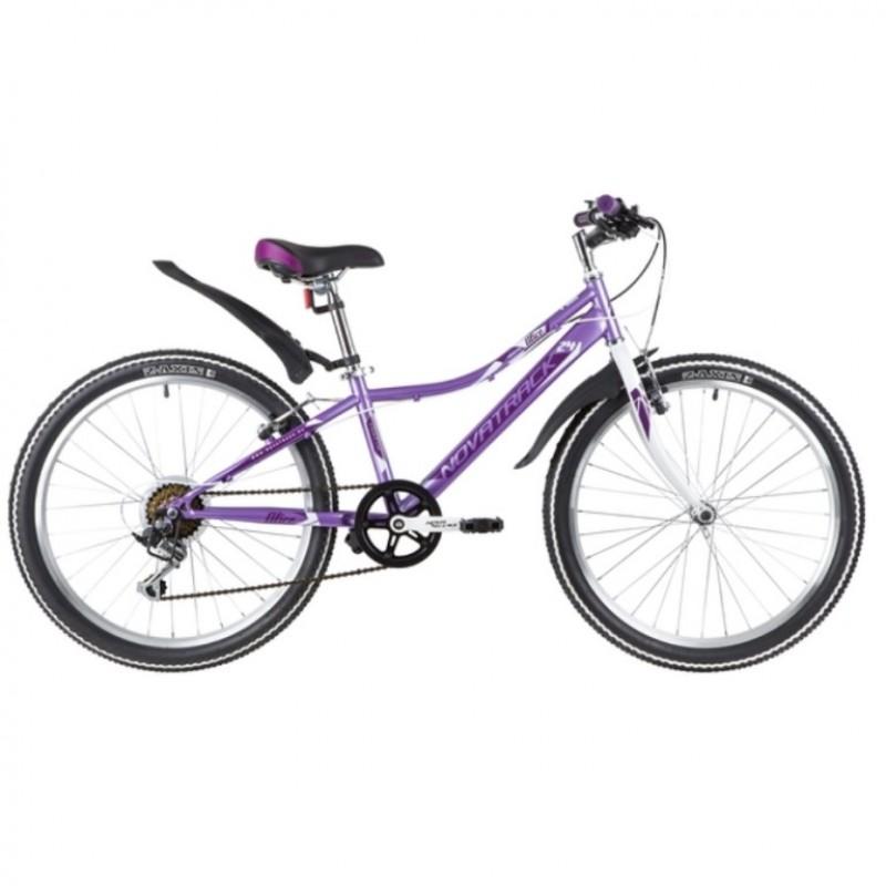 Велосипед 24 Novatrack SH6SV.Alice.12LC21  6-ск лиловый