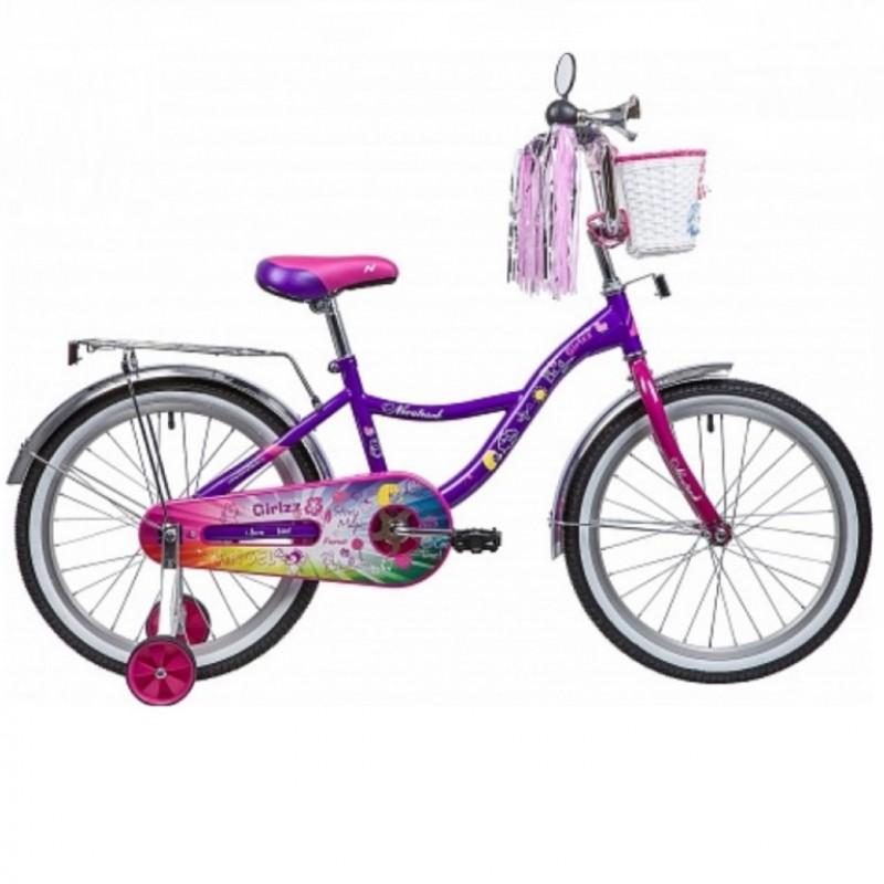 Велосипед 20  Nov. Little Girlzz VL9 фиол.