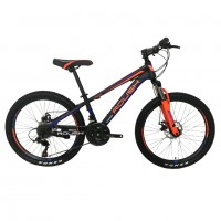 Горный велосипед 24 Roush 24MD200-1 синий/оранжевый матовый
