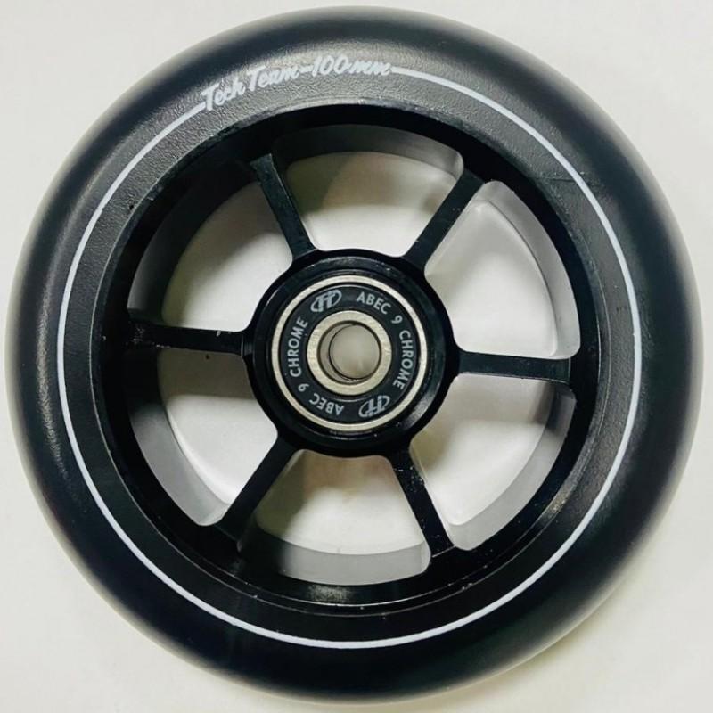 Колесо 100мм X-Treme  для самоката,форма 6RT чёрный