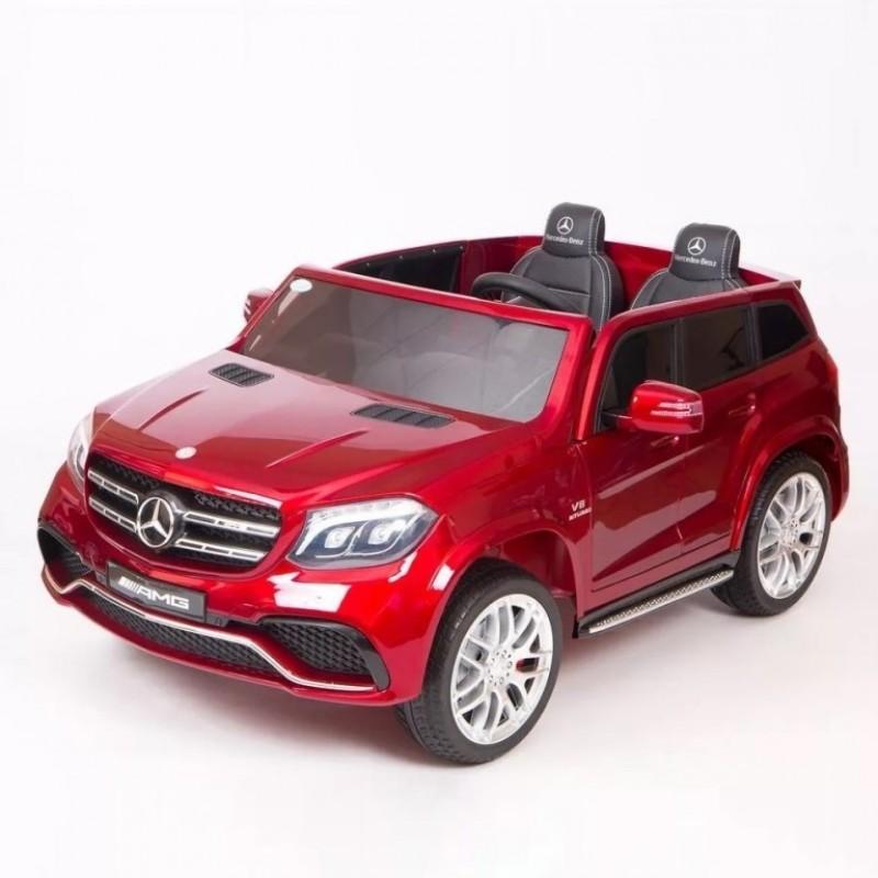 Электромобиль детский Mercedes-Benz AMG GLS63 45488   (Р)  Полный привод! вишневый  глянец