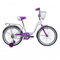 Велосипед 20 Novatrack SH6V.BUTTERFLY.VL9  бело-фиолетовый