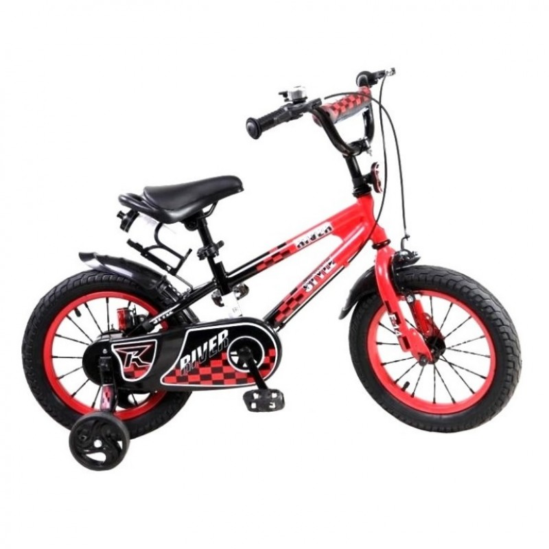 Велосипед 14 Riverbike F-14 красный/чёрный