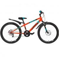 Велосипед 24 Novatrack SH6SD Extreme11OR21  оранжевый