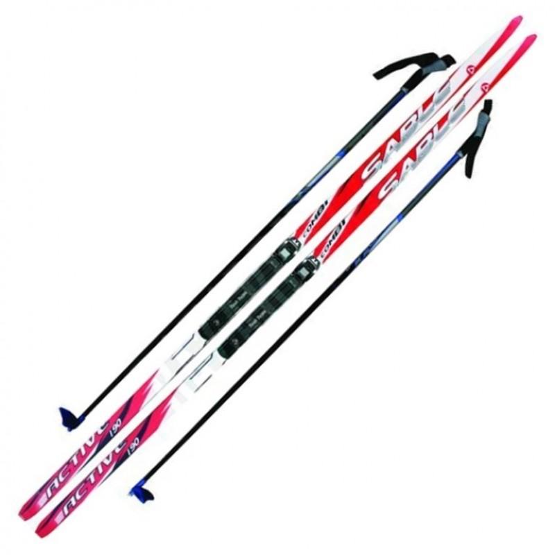 Лыжный комплект NNN креп STC 175см (4)+пал+кр