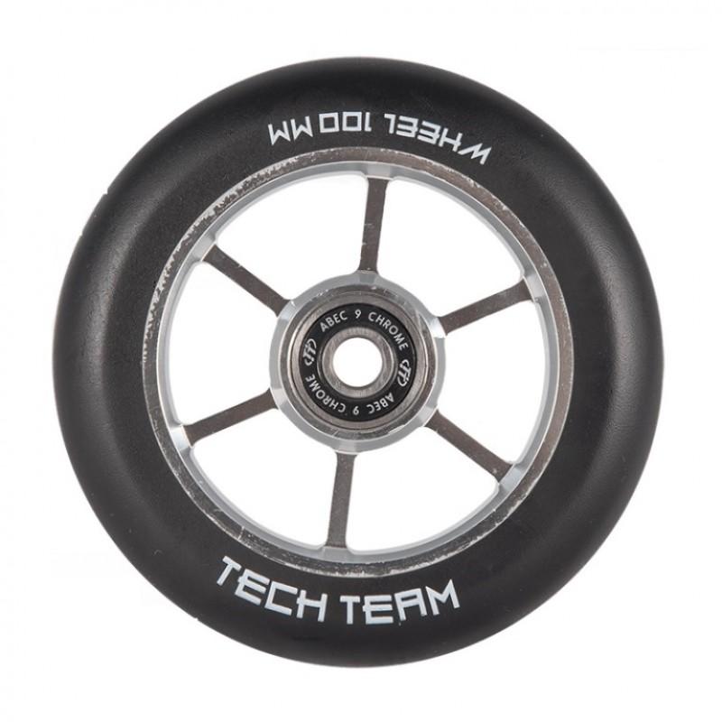 Колесо  110мм X-Treme  для самоката Garm,форма 6RT чёрный