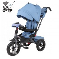 Детский 3-х колёсный велосипед TT Luxury голубой 1/1  (P)