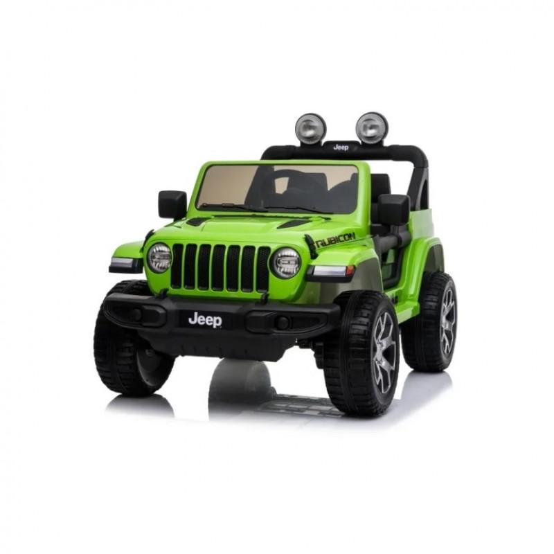 Электромобиль детский JEEP RUBICON DK-JWR555  51695 (P) полный привод , зелёный глянец