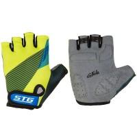 Перчатки STG  Х87910-Л  летние с защитной прокладкой,застежка на липучке,размер Л,черн/салат/синие