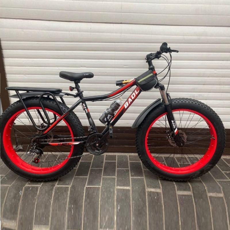 Велосипед 26  Fat bike BATLER чёрна-зелёный