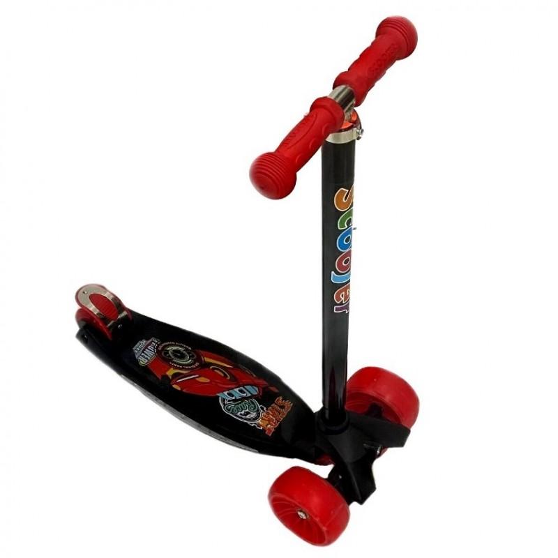 Самокат Scooter BIG Maxi Print Music TJ-701M  цвет красный Машинки 1/6